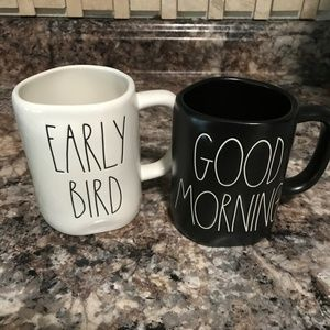 Rae Dunn Mugs Early Bird/Good Morning